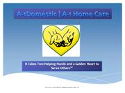 A-1 Domestic | A-1 Home Care: O.C. and L.A. Caregivers