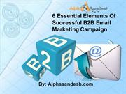 6 Essential Elements Of Successful B2B Email Marketing Campaign