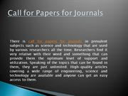 call for papers for journals