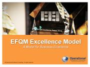 EFQM Excellence Model by Operational Excellence Consulting
