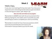 Week 2 video PG 130 Career Planning