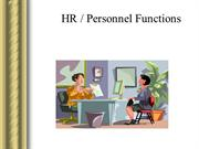 HR - Personnel Functions