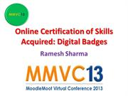 Online Certification of Skills Acquired: Digital Badges