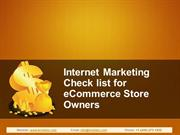Internet Marketing Checklist for eCommerce Store Owners