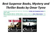 Best Suspense Books, Mystery and Thriller Books by Omar Tyree
