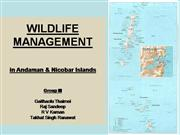 WILDLIFE MANAGEMENT in Andaman & Nicobar