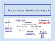 The Numerous Benefits of Omega 3