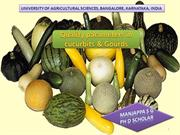 Quality parameters in cucurbits & Gourds