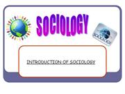 Sociology and urbanisation