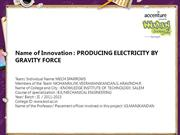 Producing electricity by gravity force