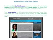 Women Speakers at My Public Speakers
