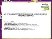 AN INTELLIGENT PATIENT TRACKING AND GUIDANCE SYSTEM FOR LARGE HOSPITAL