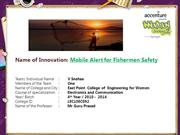 Mobile Alert for Fishermen Safety