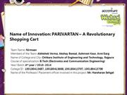 PARIVARTAN – A Revolutionary Shopping Cart