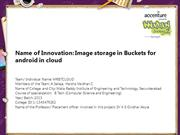 Image Storage in Buckets for Android in Cloud