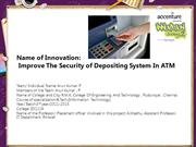 Improve The Security of Depositing System In ATM