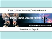 Instant Law Of Attraction Success Review