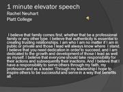 1 minute elevator speech with recording