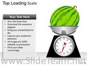WEIGHING THE WATER MELON POWERPOINT SLIDES