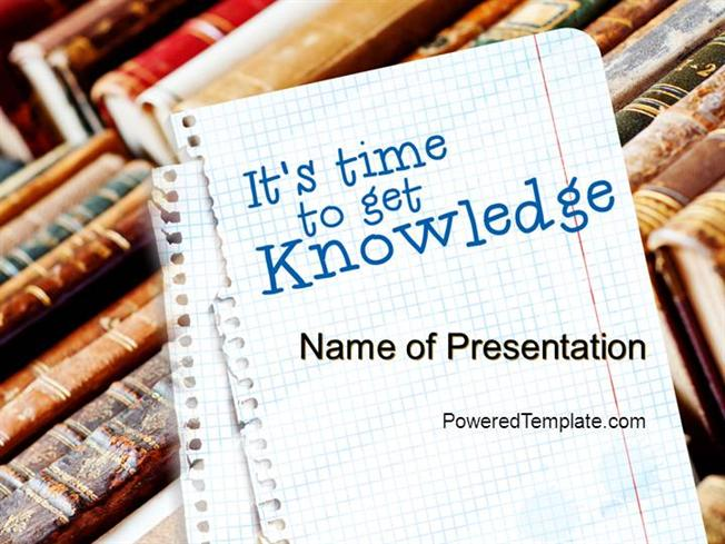 Old knowledge powerpoint template by poweredtemplate authorstream toneelgroepblik Images