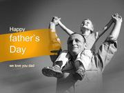 Happy Father's Day PowerPoint Template by PoweredTemplate.com