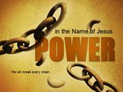 He Will Break Every Chain PowerPoint Template by PoweredTemplate