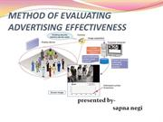 Method of evaluating advertising effectiveness - Copy
