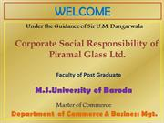 CSR of Piramal Glass