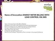 BackBenchBeatles- ENERGY METER BILLING WITH LOAD CONTROL via sms