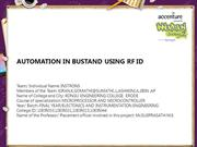 Automation in Bus Stand using RF ID