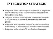 INTEGRATION STRATEGIS