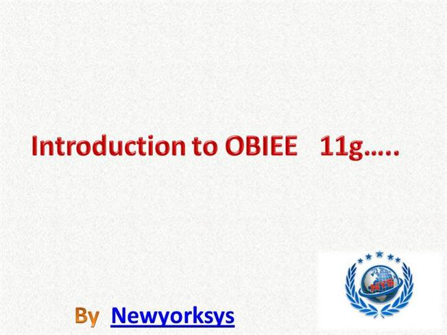 OBIEE TRAINING MATERIAL DOWNLOAD