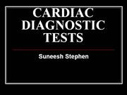 CARDIAC DIAGNOSTIC TESTS