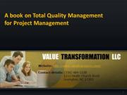Book on Total Quality Management for Project Management