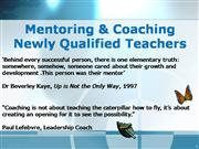 Coaching and Mentoring New Teachers