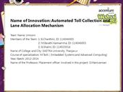 Automated Toll Collection and Lane Allocation Mechanism