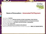 Automated Toll Payment