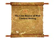 The Core Basics of Web Content Writing