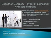 Open Irish Company - Types of Companies Available