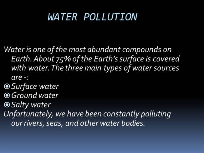 Water Pollution |authorSTREAM