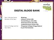 DIGITAL BLOOD BANK