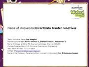 Direct Data Tranfer Pendrives