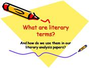 How to use literary terms in an essay