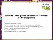 Hand gesture  based remote control for electrical appliances