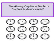 Time-Keeping Compliance