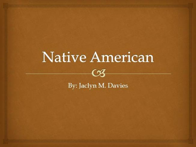 Native american family characteristics authorstream toneelgroepblik Choice Image
