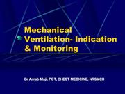 Mechanical Ventilation- Indication & Monitoring