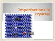 Imperfections in Crystals