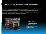 Hospitality Construction Management by Precision-Services.com