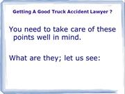Getting a good Truck Accident Lawyer